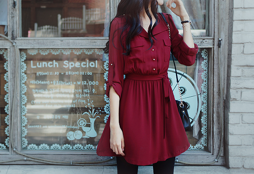 Red evening dress tumblr cute